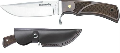 Coltello Caccia Black Fox Bowie Knife W/Leather Sheath Bf-005 WD