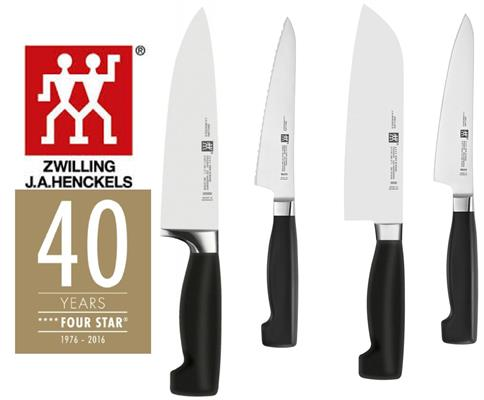 Zwilling Set Coltelli Four Star 40 Years 1976 - 2016